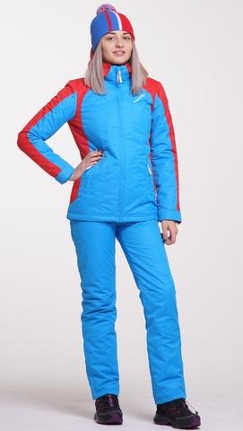 Женский тёплый  прогулочный лыжный костюм Nordski National Blue 18