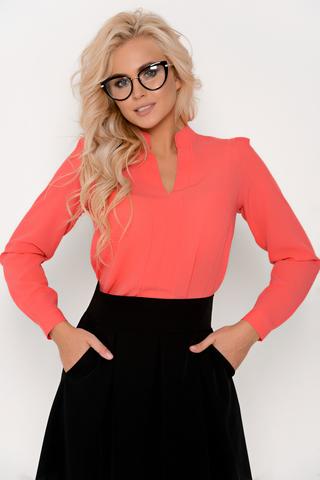 Изящная блузка классического стиля с длинным рукавом. Гармонично сочетается с множеством фасонов брюк и юбок.Длина изделия:44-62 см. 46-63 см. 48-64 см. 50-65 см. Длина рукава : 44р.-52р 60 см.