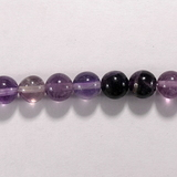 Бусина из флюорита пурпурного, шар гладкий 8мм