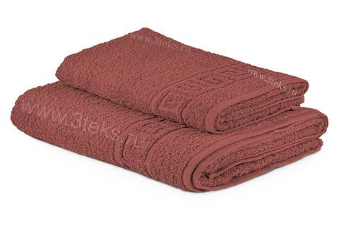 Полотенце махровое гладкокрашеное (Бордо)
