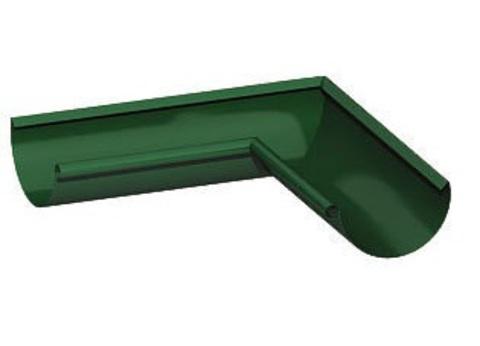 Угол желоба внешний ф125-135гр (RAL 6005-зеленый мох)