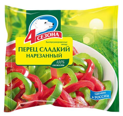 """Перец """"4 сезона"""" сладкий резанный 400г"""
