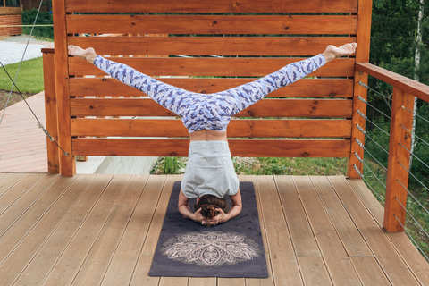 Каучуковый коврик для йоги Lotus 183*61*1-3мм