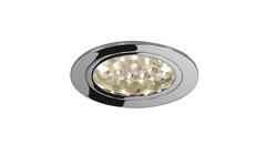 SLV 111952 — Светильник потолочный встраиваемый Recessed downlight, DL 123, LED, круглый, хром, 24 LED, 3000K