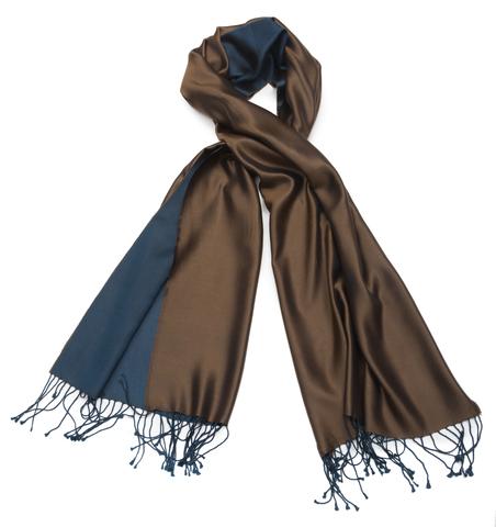 Плед-шарф 50х180 AM Paris Paraty коричневый-синий