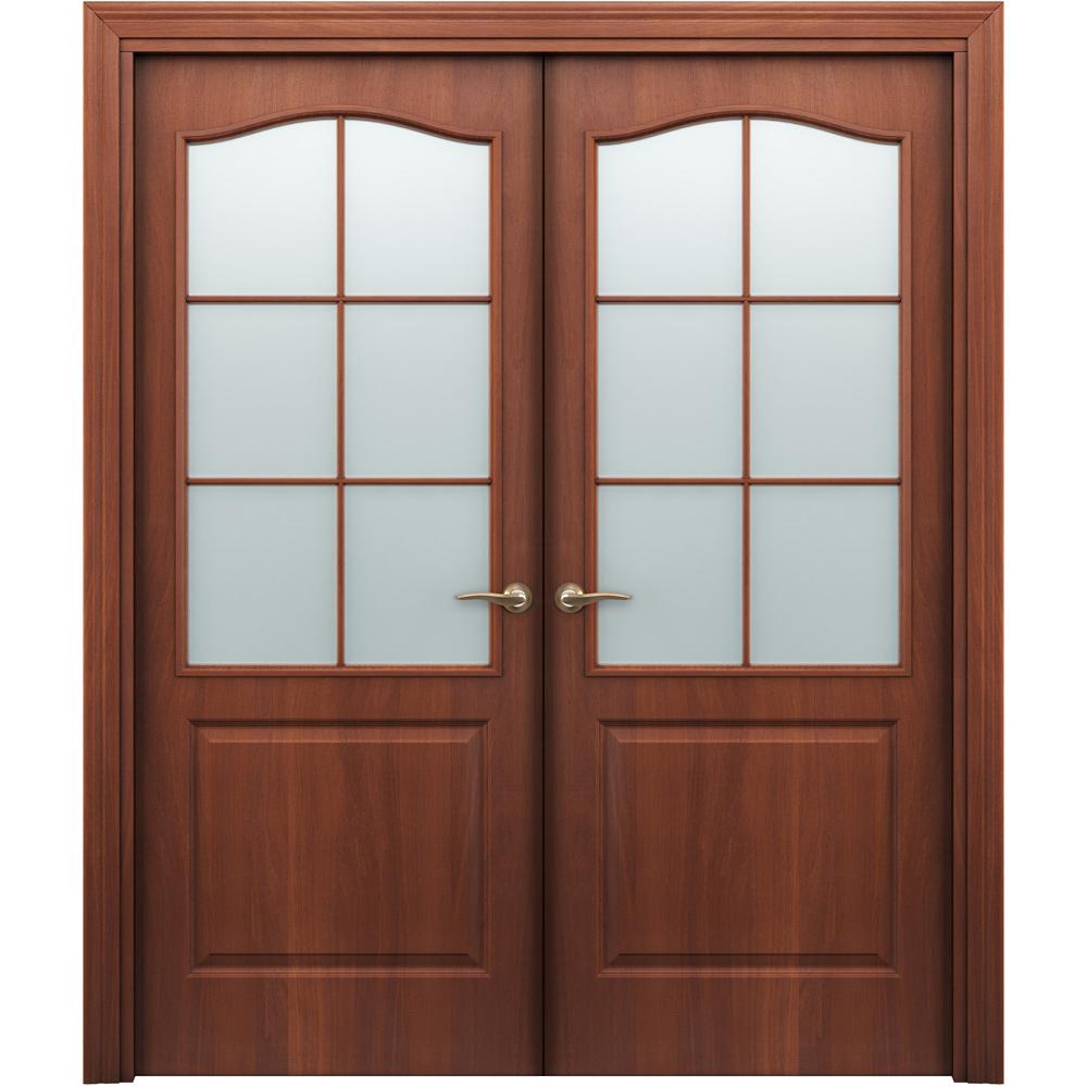 Двустворчатые двери Палитра итальянский орех распашная двустворчатая со стеклом palitra-por-italiya-dvertsov.jpg