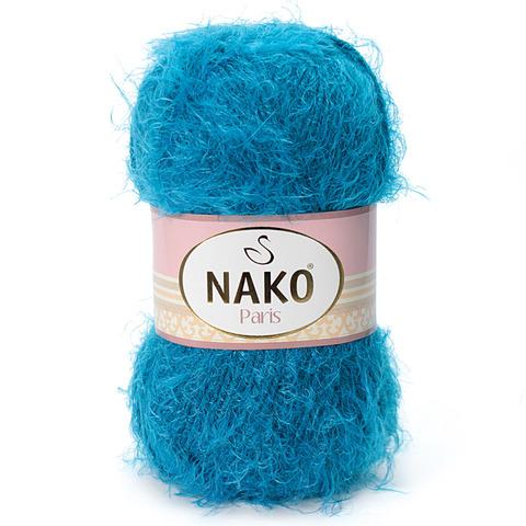 Пряжа Nako Paris 10328 голубая бирюза