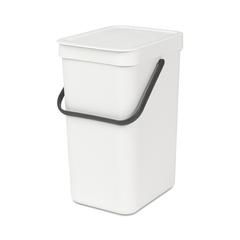 Ведро для мусора Brabantia Sort&Go белое 12л