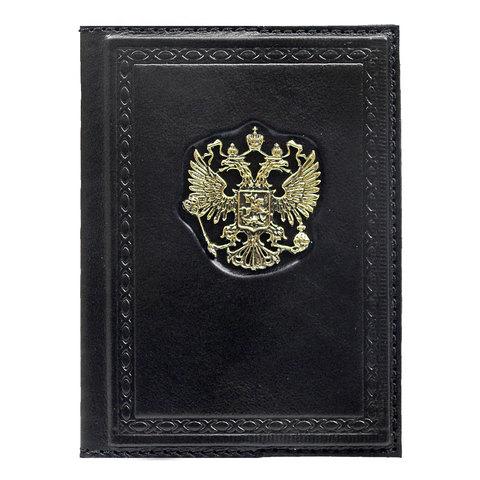 Обложка для паспорта Россия Златоглавая черная