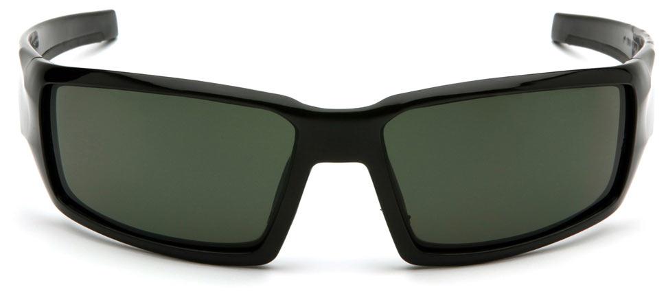 Очки баллистические стрелковые Pyramex Pagosa VGSB522T Anti-fog темно-зеленые 10%