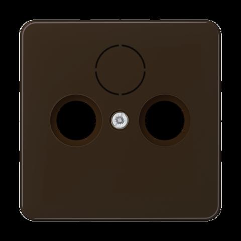 Накладка  двойная/тройная для антенных розеток. Цвет Коричневый. JUNG CD. CD561SATBR