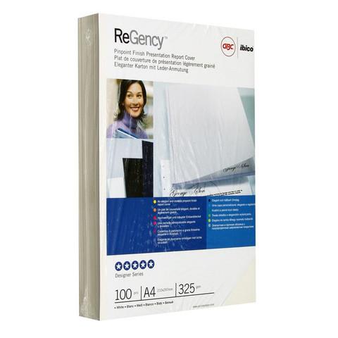 Обложки для переплета картонные GBC, белые, А4, 325г/м2, 100шт/уп.