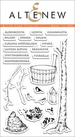 Набор штампов  Birch Land Finnish