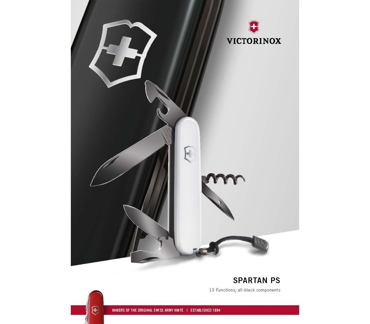 Складной нож Victorinox Spartan PS Black (1.3603.3P) 91 мм., 13 функций, подарочная упаковка- Wenger-Victorinox.Ru