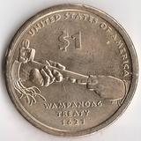 K6140, 2011, США, 1 доллар Р Сакагавея Трубка мира