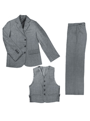 1001 костюм для мальчиков серый