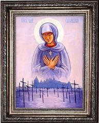 Соловецкая Добрейшая Добрых икона Божьей Матери на холсте.