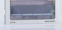 Semitrailer two-axle board MAZ-93971 blue-gray 1:43 AutoHistory