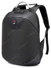 Рюкзак Антивор с кодовым замком FS958 Черный