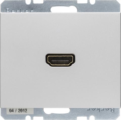Розетка HDMI. Цвет Алюминий. Berker (Беркер). K.5. 3315427003. Цвет Алюминий. Berker (Беркер). K.5. 3315427003