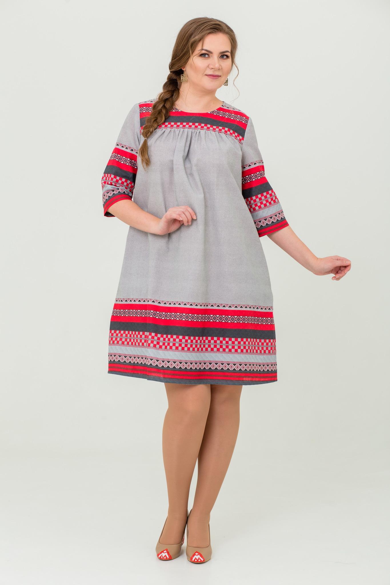 Платье Чудное мгновенье льняное с карманами