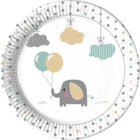 Тарелка Слоненок 23см 8 шт