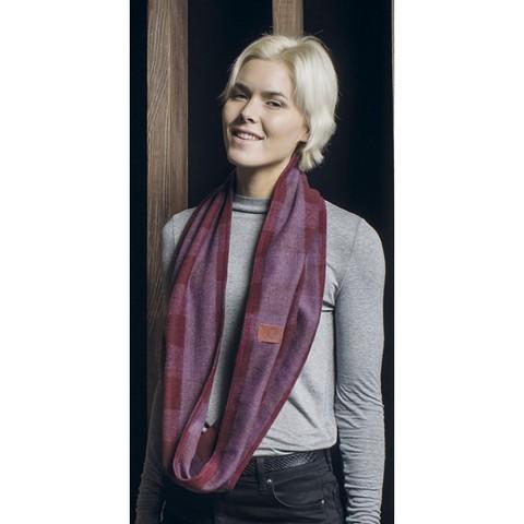 Модный шарф-труба Buff Studio Warlow Red Beaujolais