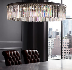 Rhys Clear Glass Prism Round Chandelier 32