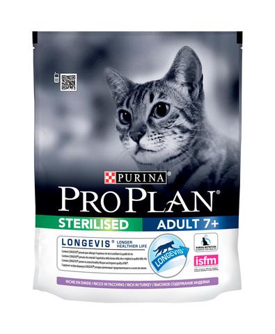 Pro Plan сухой корм для кошек кастр/стерил старше 7 лет (индейка) 400г