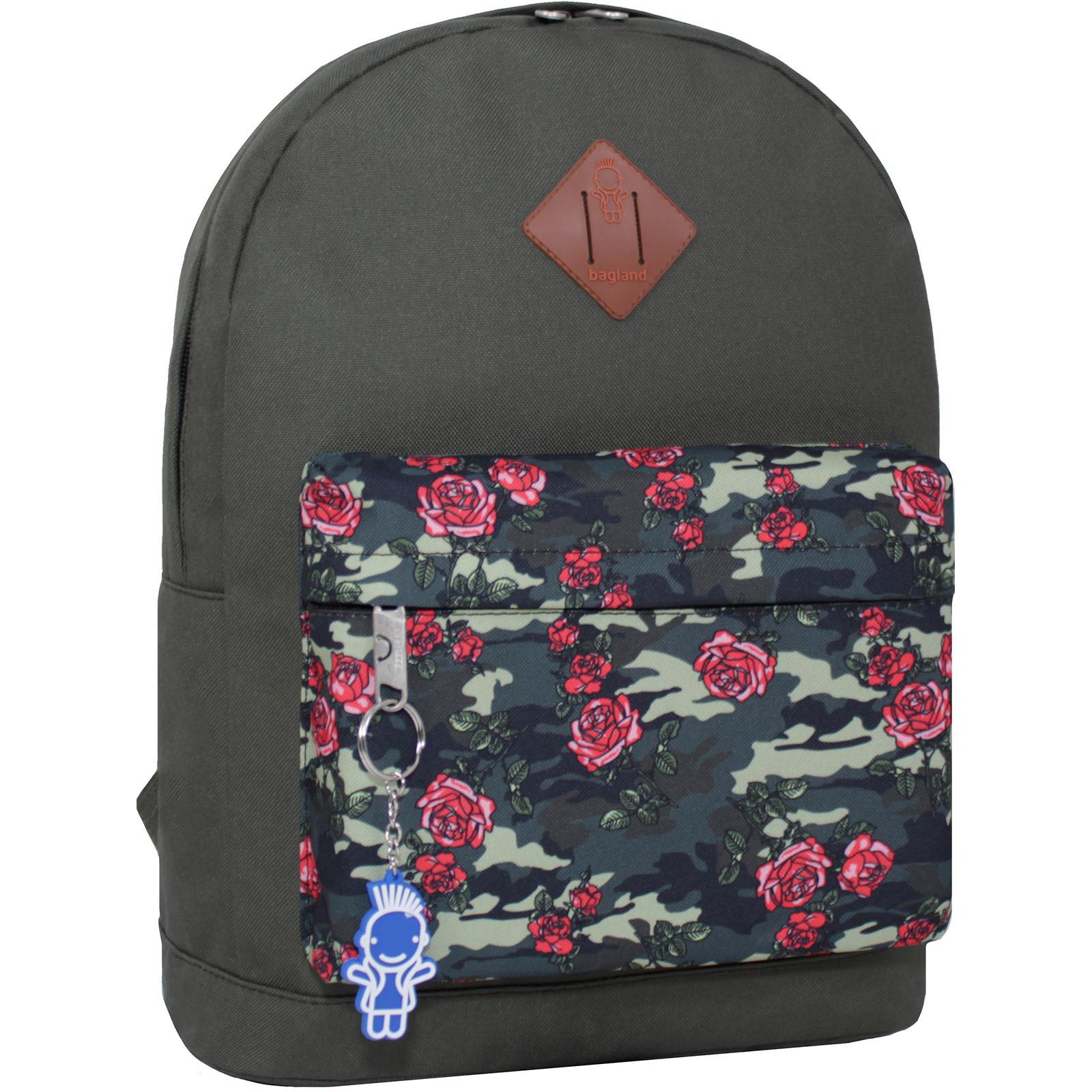 Городские рюкзаки Рюкзак Bagland Молодежный W/R 17 л. Хаки 470 (00533662) IMG_2265_суб.470_.JPG