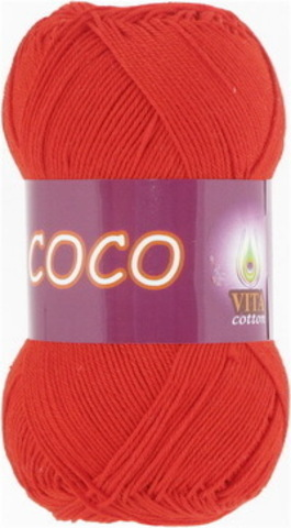Пряжа Coco (Vita cotton) 4319 Алый