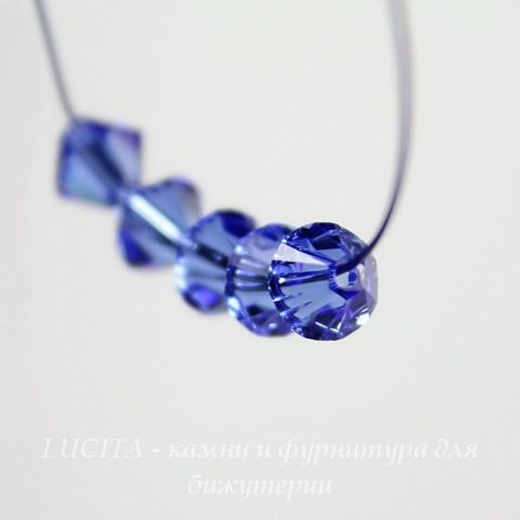 5328 Бусина - биконус Сваровски Sapphire 4 мм, 10 штук ()