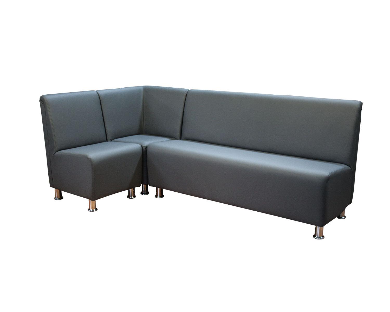 Комбинация из кресла, закрытого угла и  3-местного прямого дивана Дели