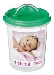 Детская чашка с трубочкой Sisitema, зеленая 250 мл