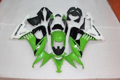 Комплект пластика для мотоцикла Kawasaki ZX-10R 08-10 Зелено-Черный Заводской COLOR+