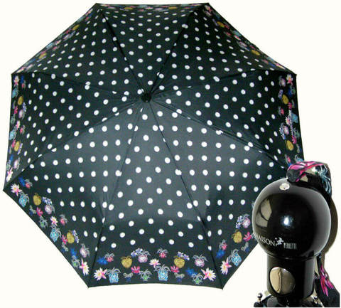 Купить онлайн Зонт складной Maison Perletti 16207-dt Dots design в магазине Зонтофф.