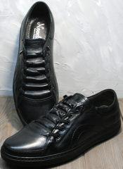 Черные осенние кроссовки кеды мужские Novelty 5235 Black.