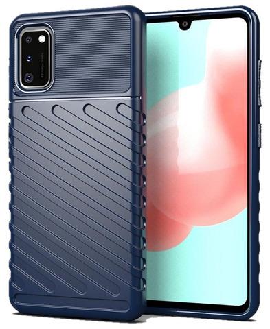 Темно синий чехол на телефон Samsung Galaxy A41, серия Onyx, Caseport