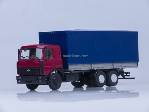 MAZ-6303 board with awning red-blue 1:43 AutoHistory