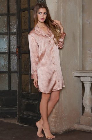 Рубашка женская натуральный шелк  MIA-MIA  Agata АГАТА  15122