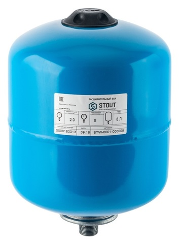 Гидроаккумулятор Stout 8 вертикальный