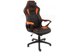 Компьютерное кресло Леон (Leon) черное / оранжевое