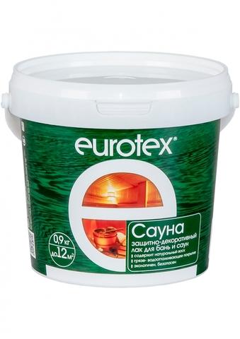 Eurotex-Сауна лак защитный для дерева 0,9 кг/6