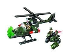 Конструктор Зона боевых действий Вертолет и мотоциклисты
