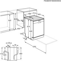 Посудомоечная машина Electrolux ESF 8560 ROW схема