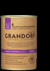 Grandorf Wild Boar & Veal консервы для собак Кабан и Телятина