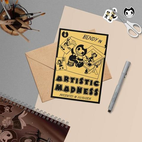 Открытка BENDY IN ARTISTIC MADNESS