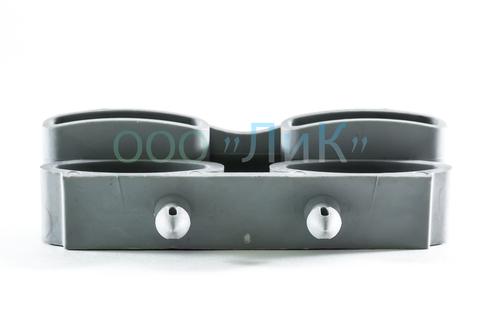 Латодержатель амортизирующий, накладной, двойной 38 мм, серый
