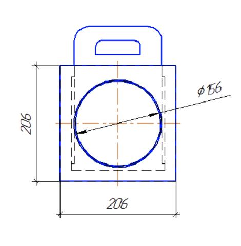 Шибер/задвижка D 150 мм полипропилен