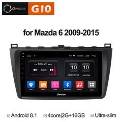 Штатная магнитола на Android 8.1 для Mazda 6 09-15 Ownice G10 S9506E
